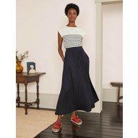 Helana Wrap Skirt Navy Women Boden, Navy