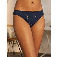 Bikini Bottoms Navy, Flamingo Foil Women Boden, Navy, Flamingo Foil