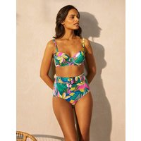 Kythira Belted Bikini Bottoms Palm Leaf, Tropical Flora Women Boden, Palm Leaf, Tropical Flora.