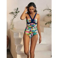 Corsica Tankini Top Palm Leaf, Tropical Flora Women Boden, Palm Leaf, Tropical Flora