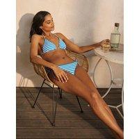 String Bikini Top New Blue China, Ivory Stripe Women Boden, New Blue China, Ivory Stripe