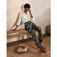Richmond 7/8 Trousers Black, Safari Fern Women Boden, Black, Safari Fern
