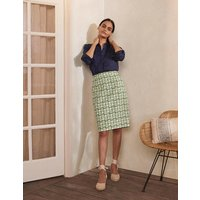 Gabriella Pencil Skirt Pea, Pineapple Geo Women Boden, Pea, Pineapple Geo