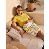 Gabriella Pencil Skirt Ivory, Tropical Charm Women Boden, Ivory, Tropical Charm