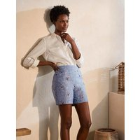 Hornsea Linen Shorts Chambray with Toucans Women Boden, Chambray with Toucans