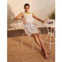Danby Pull On Mini Skirt Ivory, Garden Tropic Multi Women Boden, Ivory, Garden Tropic Multi