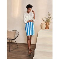Danby Pull On Mini Skirt Moroccan Blue and Ivory Stripe Women Boden, Moroccan Blue and Ivory Stripe