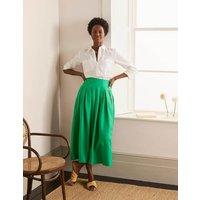 Lydia Linen Pleated Skirt Sapling Women Boden, Sapling