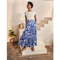 Lorna Tiered Maxi Skirt Summit, Garden Tropic Women Boden, Summit, Garden Tropic