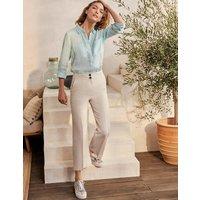 Cornwall Linen Trousers Natural Women Boden, Natural