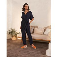 Alice Wrap Jumpsuit Navy Women Boden, Navy
