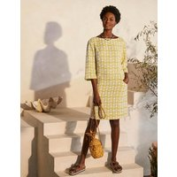 Laurie Linen Dress Chartreuse, Pineapple Geo Women Boden, Chartreuse, Pineapple Geo