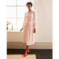 Aria Midi Dress Ivory, Regular Dot Women Boden, Ivory, Regular Dot