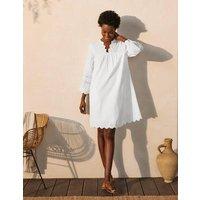 Erin Cotton Broderie Dress White Women Boden, White