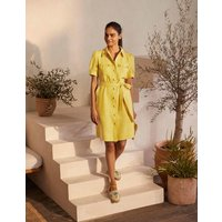 Carrie Linen Shirt Dress Daffodil Women Boden, Daffodil