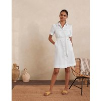 Carrie Linen Shirt Dress White Women Boden, White