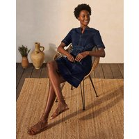 Eliza Belted Denim Dress Dark Denim Women Boden, Dark Denim