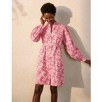 Antonia Cotton Shirt Dress Azalea, Tropical Palm Women Boden, Azalea, Tropical Palm