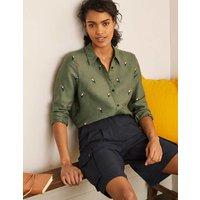 Embroidered Linen Shirt Alder Women Boden, Alder