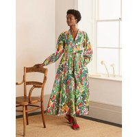 Amelia Cotton Maxi Dress Palm Leaf, Paradise Jungle Women Boden, Palm Leaf, Paradise Jungle