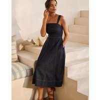 Virginie Denim Dress Dark Denim Women Boden, Dark Denim