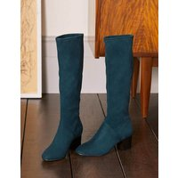 Round Toe Stretch Boots Seaweed Boden, Seaweed