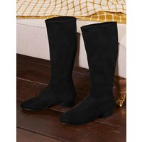 Flat Stretch Boots Black Women Boden, Black