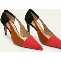 Cut Out Suede Court Shoes Black/Frankincense/Poppadew Women