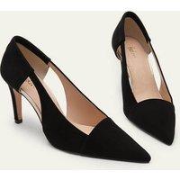 Cut Out Suede Court Shoes Black Women Boden, Black