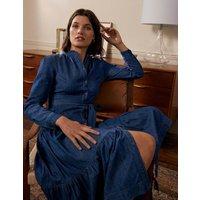 Ellen Tiered Shirt Dress Mid Vintage Denim Boden, Mid Vintage Denim