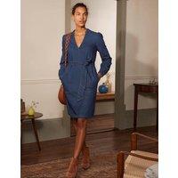 Esmeralda Tie Waist Dress Mid Vintage Denim Boden, Mid Vintage Denim