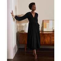 Willow Midi Jersey Dress Black Women Boden, Black