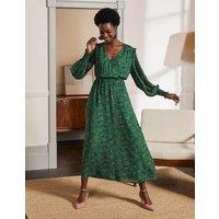 Becky Midi Wrap Dress Highland Green, Exotic Floral Women Boden, Highland Green, Exotic Floral