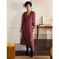 Becky Midi Wrap Dress Winterberry, Exotic Floral Women Boden, Winterberry, Exotic Floral
