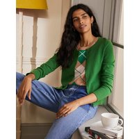 Cashmere Cropped Cardigan Emerald Green Women Boden, Emerald Green