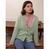Cashmere Cuff Detail Cardigan Peridot Green Women Boden, Peridot Green