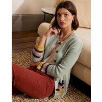 Stripe Pocket Relaxed Cardigan Raincloud Women Boden, Raincloud