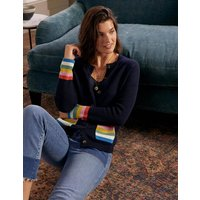 Stripe Pocket Relaxed Cardigan Navy Women Boden, Navy