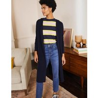 Hooded Relaxed Cardigan Navy Women Boden, Navy