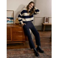 Albemarle Cropped Trousers Navy Women Boden, Navy