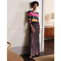 Knitted Party Skirt Multi Lurex Stripe Women Boden, Multi Lurex Stripe