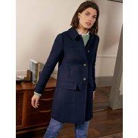 Durham Wool Blend Coat Navy Women Boden, Navy