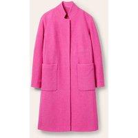 Chiltern Wool Blend Coat Pop Pansy Boden, Pop Pansy