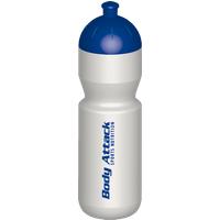 Body Attack Sports Nutrition Trinkflasche - 750ml weiß-blau