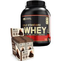 Optimum Nutrition 100% Whey Protein 2270g + 12 Protein Almonds 43g Paket