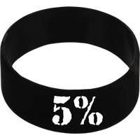 Rich Piana 5% Nutrition Wrist Band 5% Design