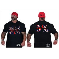 Rich Piana 5% Nutrition - Black T-Shirt Union Jack Design (093)
