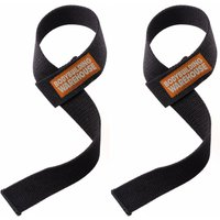 Bodybuilding Warehouse Canvas Lifting Straps (Black)