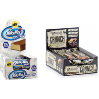 Milky Way Protein Bar & Warrior CRUNCH Bar Bundle - Great Value!