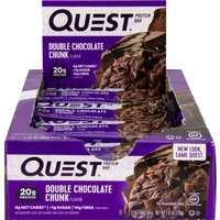 Image of Quest Protein Bars - 12 Bars-Double Chocolate Chunk